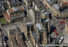 Bath Abbey  Bath Somerset aerial photograph
