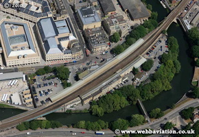 Bath Spa Station ath Somerset aerial photograph