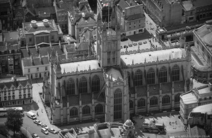 Bath Abbey aerial photograph