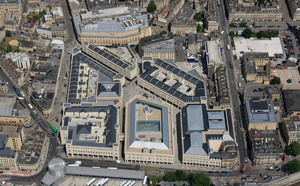 SouthGate shopping centre in Bath aerial photograph