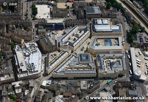 SouthGate shopping centre Bath Somerset aerial photograph