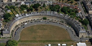 The Royal Crescent  Bath aerial photograph