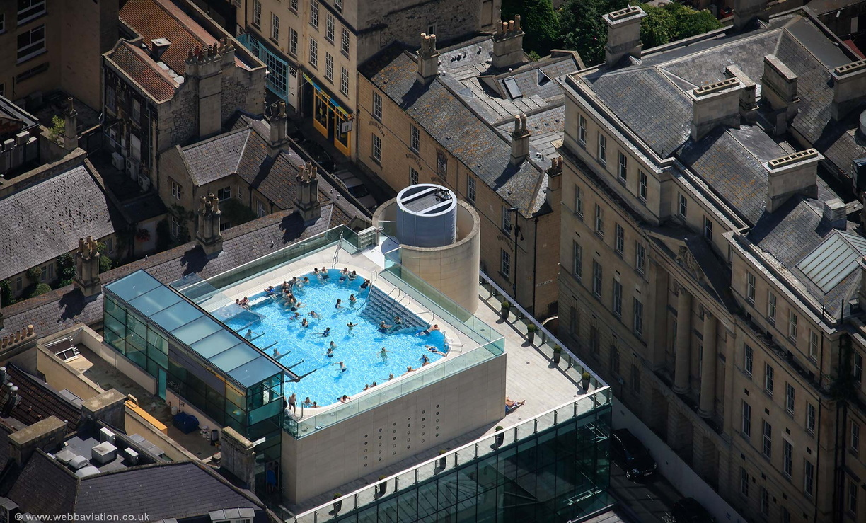Thermae Bath Spa Aerial Photograph Aerial Photographs Of Great Britain By Jonathan C K Webb
