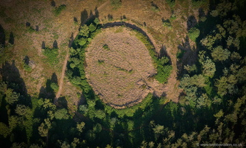 Black Ball Camp defended settlement  , Gallox Hill Somerset  from the air