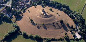 Burrow Mump Somerset  aerial photograph