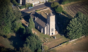 Church of St Leonard, Farleigh Hungerford Somerset, aerial photograph