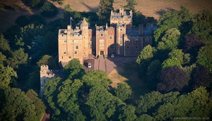 Dunster Castle from the air