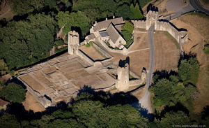 Farleigh Hungerford Castle Somerset, aerial photograph