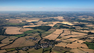 Faulkland in the Mendip district of Somerset, aerial photograph