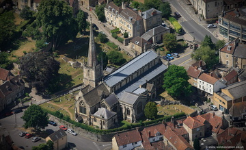 Church of St John the Baptist, Frome   aerial photograph