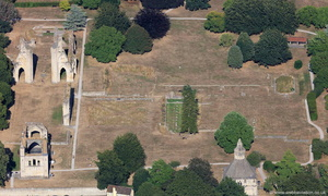 Glastonbury Abbey Somerset   from the air