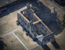 Glastonbury Abbey  from the air