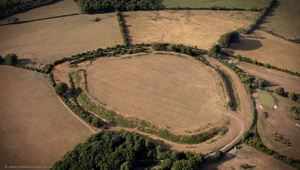 Maesbury Castle hillfort Somerset aerial photograph
