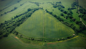 North Stoke hillfort  aerial photograph