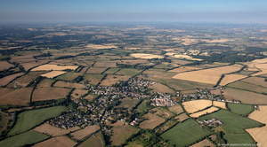 Norton St Philip in the Mendip district of Somerset, aerial photograph