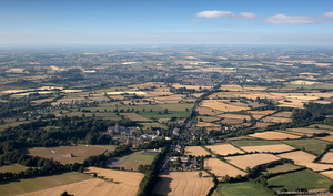 the Fosse Way Roman road aerial photograph