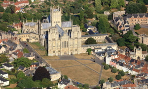 Wells Cathedral  from the air