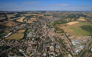 Wells Somerset from the air