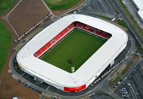 Keepmoat Stadium Doncaster aerial photograph