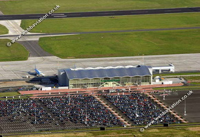 Aerial Photograph of robin hood airport doncaster