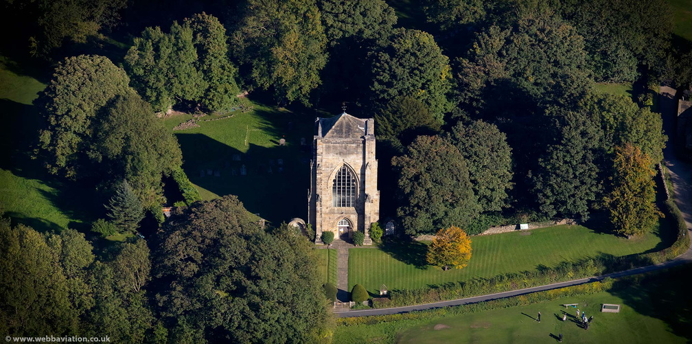Beauchief Abbey from the air