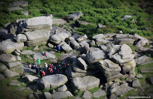 Higger Tor in the Peak District National Park,  aerial photograph
