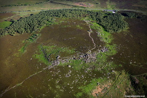 Over Owler Tor  & Mother Cap aerial photograph  of Darley Bridge