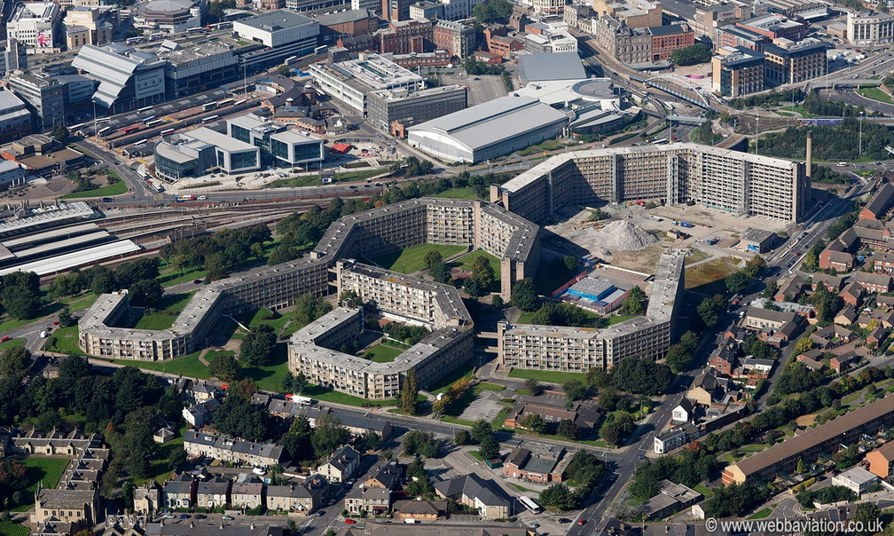 Park Hill Estate  Sheffield  from the air