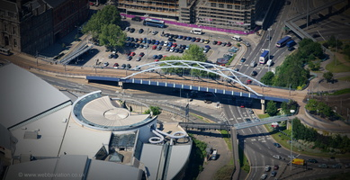 Park Square Bridge Sheffield from the air
