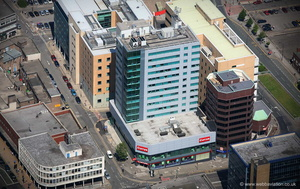 Redvers Tower,  Furnival Gate  Sheffield  from the air