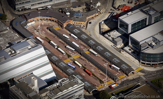 Sheffield Bus Station from the air