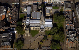 Sheffield Cathedral from the air