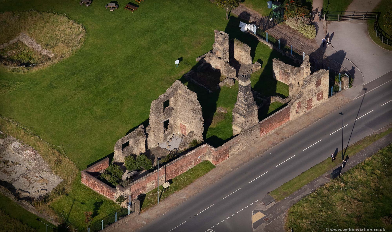 Sheffield Manor Lodge from the air