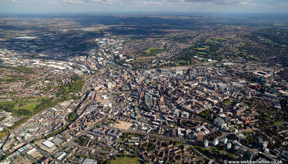 Sheffield panoramic  from the air
