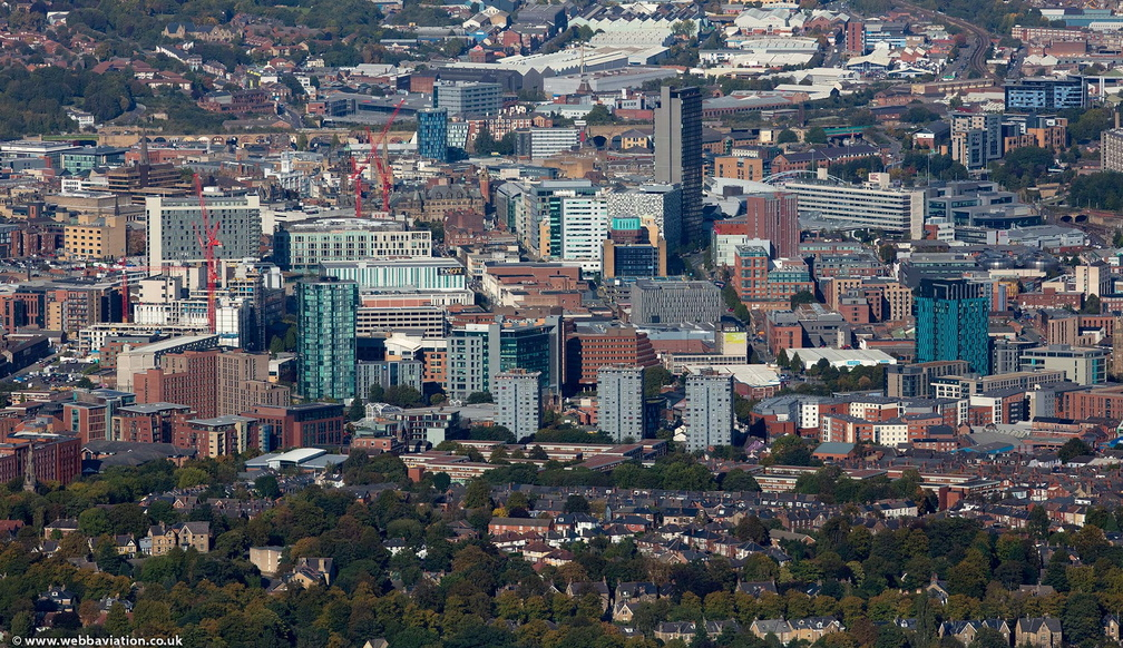 Sheffield Skyline from the air