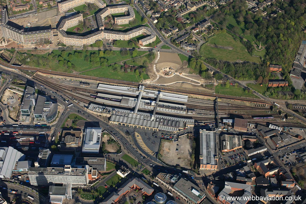 Sheffield Station  from the air