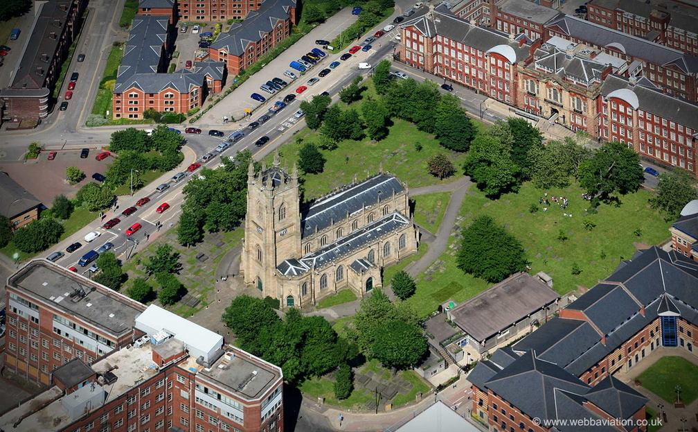 St George's Church, Portobello   Sheffield from the air