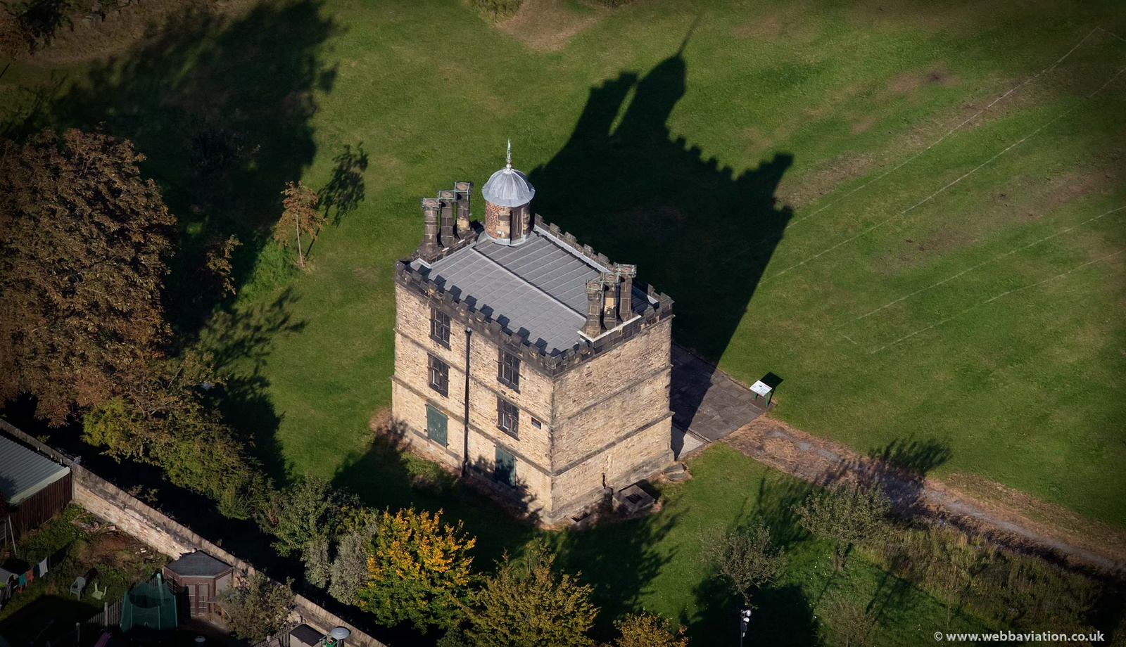 Turret House from the air