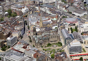 Sheffield Yorkshire  England UK aerial photograph