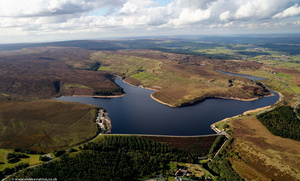 Winscar Reservoir viewed  from the air