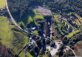 Woodhead Tunnels Eastern entrance viewed  from the air