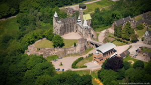 Alton Castle Staffordshire aerial photograph