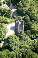 Alton Towers Theme Park Staffordshire aerial photograph