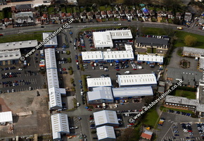 Brookfield Drive Cannock Staffordshire aerial photograph