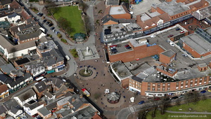 Cannock town centre  Staffordshire  from the air