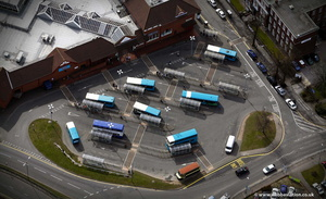 Cannock Bus Station Staffordshire  from the air