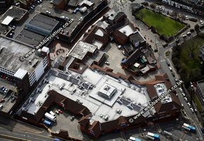 Cannock Shopping Centre Cannock Staffordshire aerial photograph