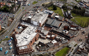 Cannock Shopping Centre Staffordshire  from the air