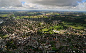 Cannock Staffordshire  from the air