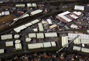 Hemlock Way  Cannock Staffordshire aerial photograph